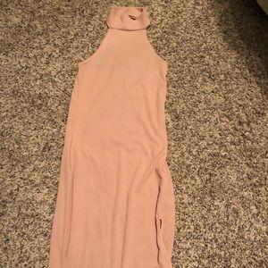 Bodycon blush/nude dress